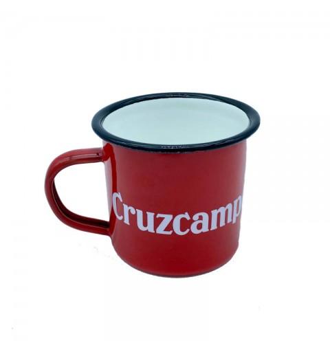 Taza Cruzcampo roja