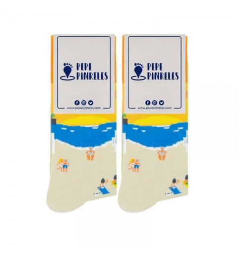 calcetines de la playa de la caleta cadiz
