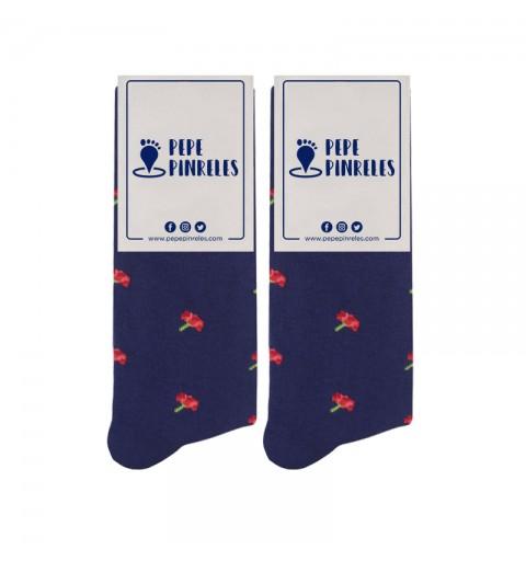 calcetines feriantes claveles