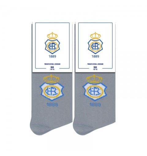 calcetines escudo recre gris