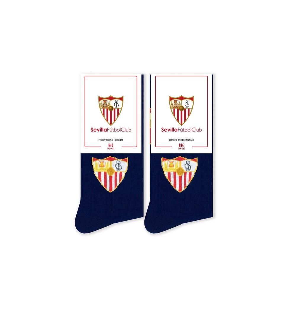 Calcetines del Sevilla FC con el escudo