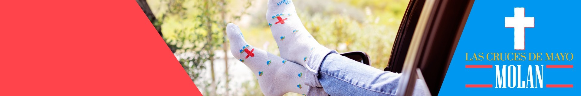 Calcetines de las Cruces de Mayo